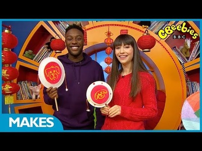 CBeebies Makes | How to Make a Rattle Drum for Lunar New Year