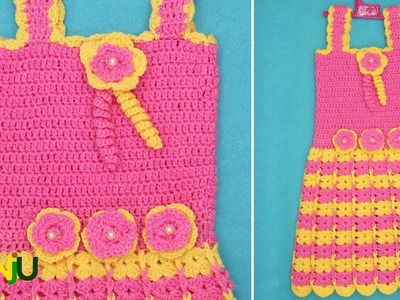 Crochet baby frock Dress for 1-2year baby| Crosia baby frock