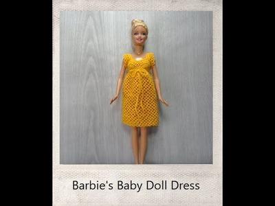Crochet Barbie Baby Doll Dress - Tutorial