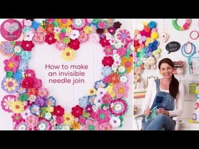 CROCHET: How to make an invisible join REDAGAPE Tiny Tutorials