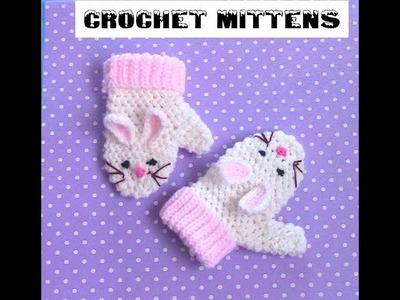 Crochet mittens 1 -4 yrs old.