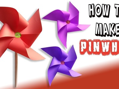 Kids Diy How To Make Easy Origami Pinwheel For Kids That Spins