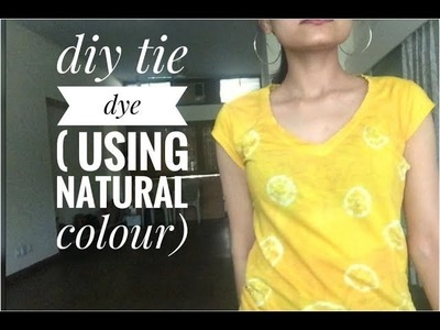 DIY Tie Dye t-shirt || how to make bandhani print || holi special DIY || soumya dubey || 2018