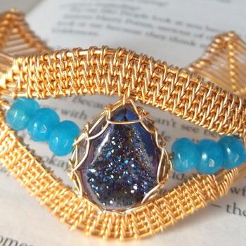 druzy quartz bangle