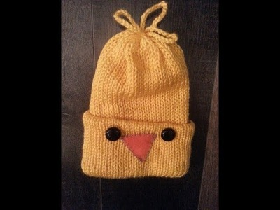 (English&Francais) HOW TO MAKE EASY CHICK HAT.BONNET POUSSIN FACILE.Addi express kingsize DYI
