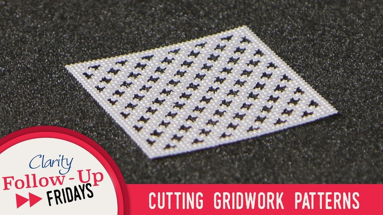 Groovi How To - Cutting Gridwork Patterns