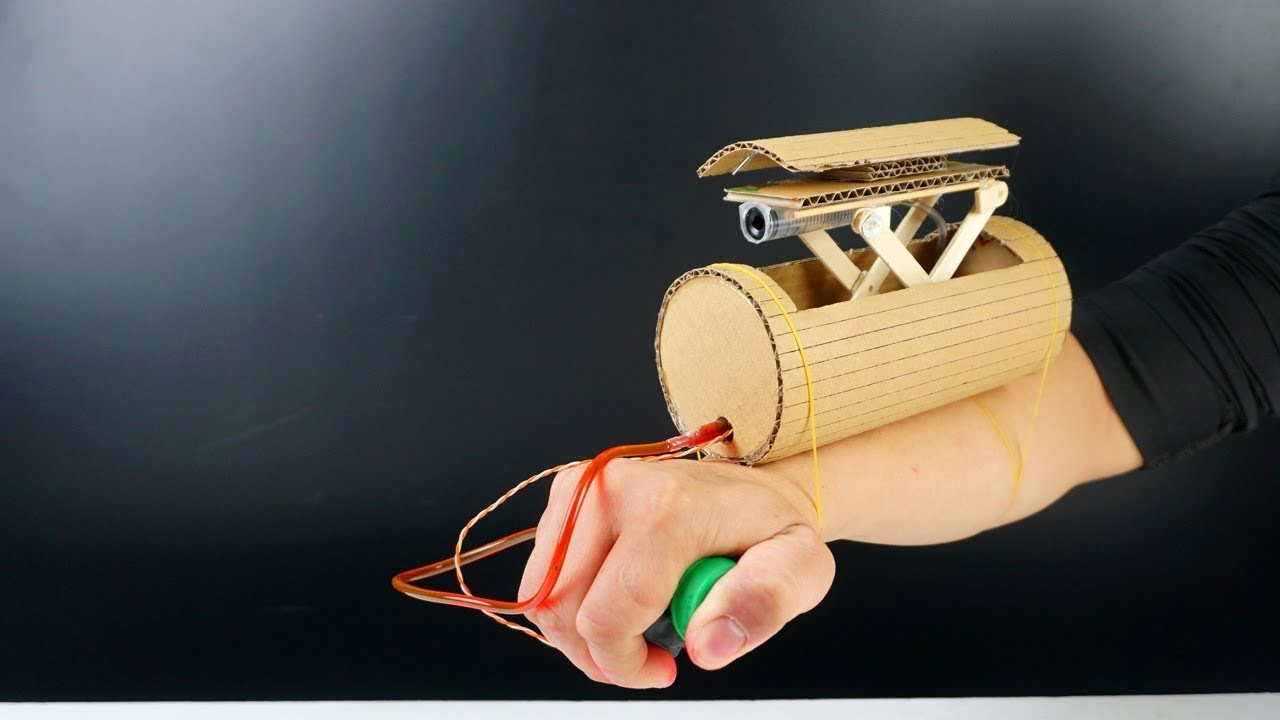 how to build spy gun from cardboard  diy missile launcher toy