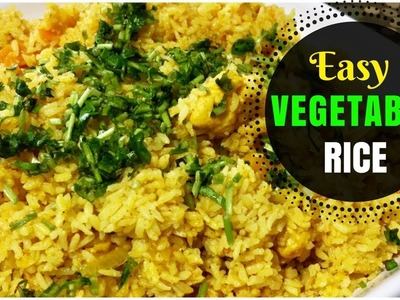 How to cook Easy Vegetable Rice. Quick Lunch Fix