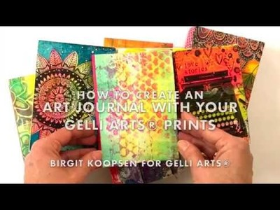 How to Create an Art Journal With Gelli Arts® Prints