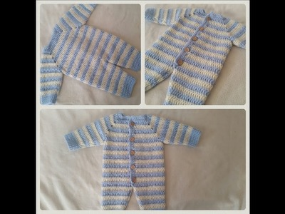 How to crochet an overall for babies part 4. 6 by BerlinCrochet