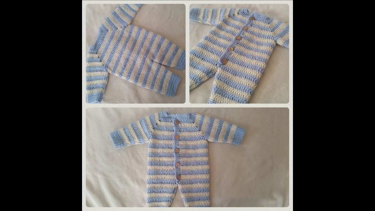 How to crochet an overall for babies part 5. 6 by BerlinCrochet