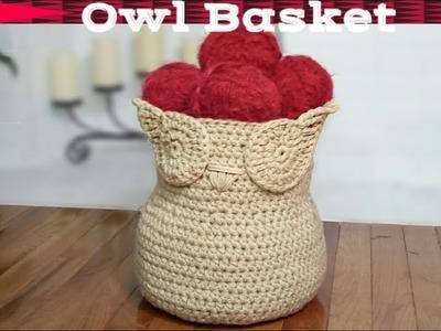 How to crochet an owl basket