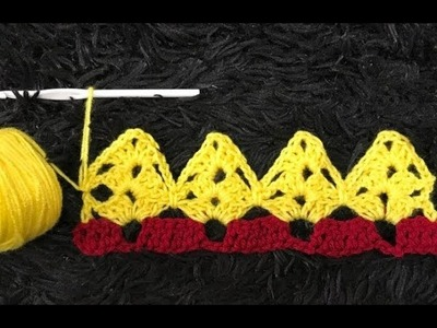 How to Crochet Border Edging. Trim Stitch Pattern #676│by ThePatternFamily