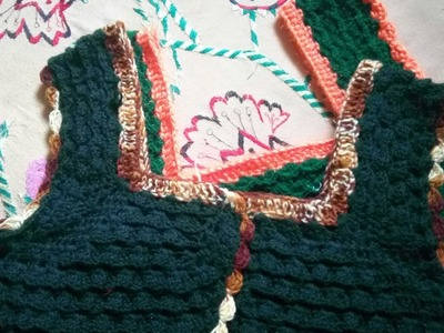 How to crochet woollen blouse part–2 #3
