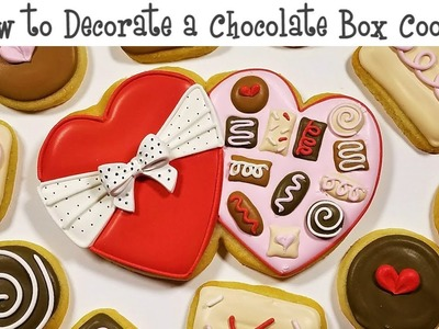 How to Decorate a Chocolate Box Cookie