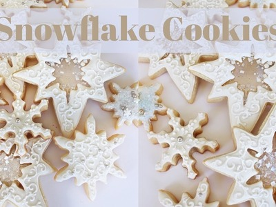 How To Decorate Snowflake Cookies With Filigree & Isomalt