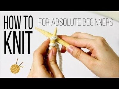 How to knit basics: cast on, knit stitch (k). For absolute beginners