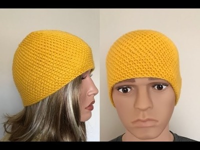 How to Knit Diagonal Stitch Beanie Hat Pattern #671│by ThePatternFamily