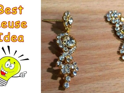 How to make 2 Simple Earrings from Broken Earrings | Best out of Waste | All type Videyos
