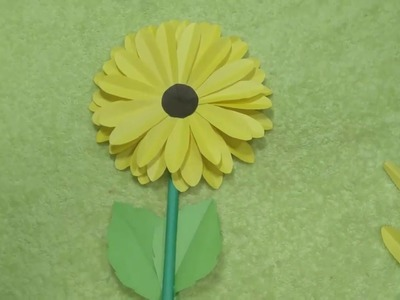 How To Make Paper Sunflower Step By Step Flowers Healthy