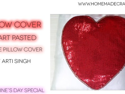 How to make a Pillow Cover | Heart Pillow Cover | Simple Pillow Cover - By Arti Singh