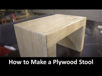 How to Make a Plywood Stool (Voice-Over)