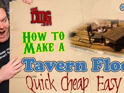 How to make a wooden tavern floor cheap quick and easy for modular dungeon tiles DMG#137
