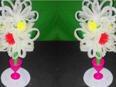 How to make beautiful Best use of foam sheet.Using plastic bottle flower New art idea