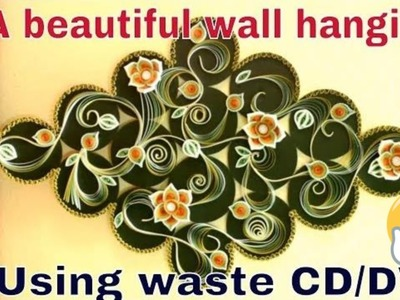 How to Make Beautiful & Attractive Home Wall Diy using Waste CD.DVD | Wall Decoration Ideas | Diy