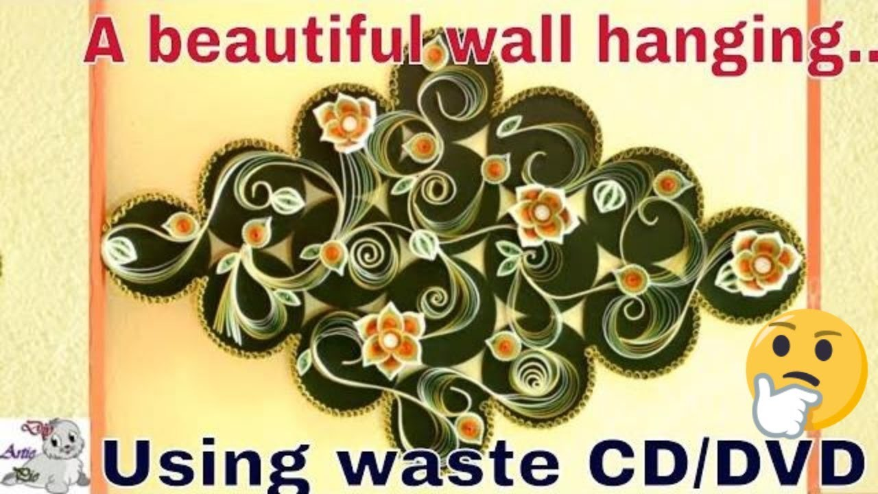 How to Make Beautiful & Attractive Home Wall Diy using Waste CD.DVD ...