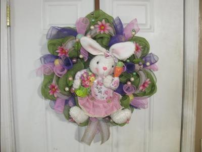 How To Make Carmen's Garden Bunny Wreath