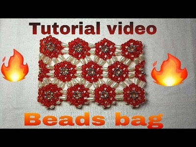 How to make easy and simple way  innovative design beads bag (পুঁতির ব‍্যাগ)