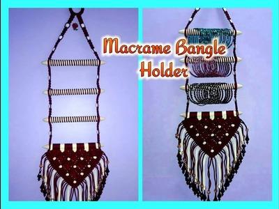 How to make Macrame Bangle holder(Simple Design)
