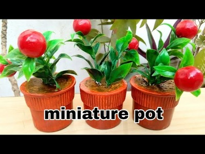How to make miniature flower pot very easy