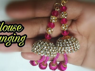How to make Silk thread Blouse Hanging at home
