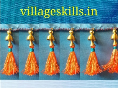 How to make very easy saree kuchu,saree tassels diy,silk thread saree tassels,saree kuchu design #42