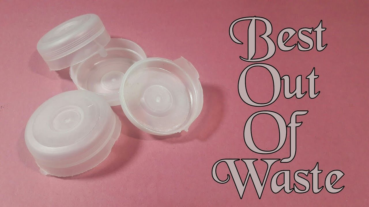 How To Make Wall Hanging From Bottle Cap Best Out Of Waste Water