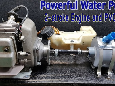 How to make Water Pump Using 2-stroke Engine And PVC pipe