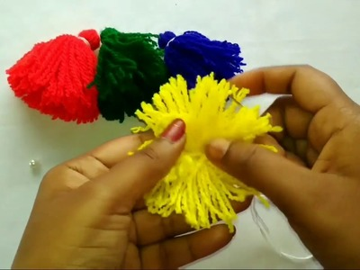 How to make woolen tassel bag charm very easily.Decorate your bags easily at home(in Bangla.Bengali)