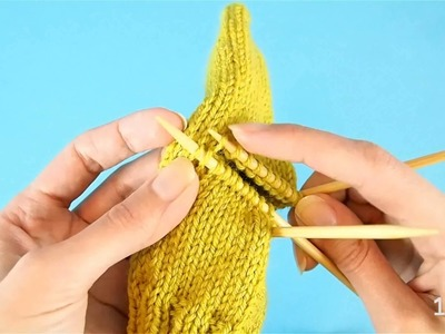 How to pick up stitches reserved for a heel or a pocket