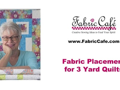 How to place your fabric in a 3 yard quilt pattern