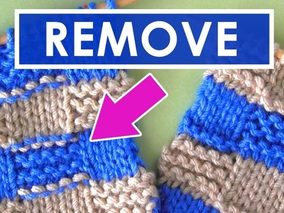 How to Remove Purl Dash Lines   Knitting Stripes Series
