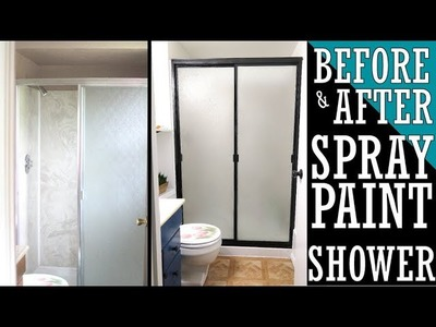 HOW TO UPDATE AN OLD SHOWER | BATHROOM REMODEL | $200 BUDGET | HOW TO SPRAY PAINT
