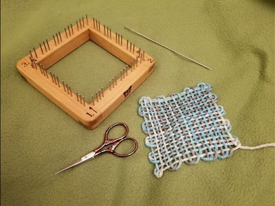 How to Weave a Square on a Pin Loom!