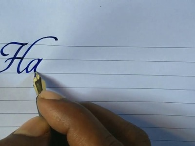 How to write good handwriting with fountain pen l Calligraphy