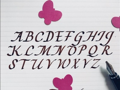 How to write in calligraphy | calligraphy fountain pen | easy way