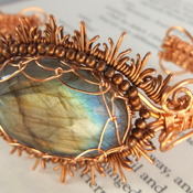 labradorite copper bangle