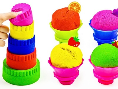 Learn Colors With Kinetic Sand Bed Duck Pool For Toys  Videos How To Make For Kids