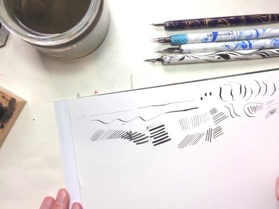 Learn drawing with dip nibs || How-to & tips, techniques, different nibs