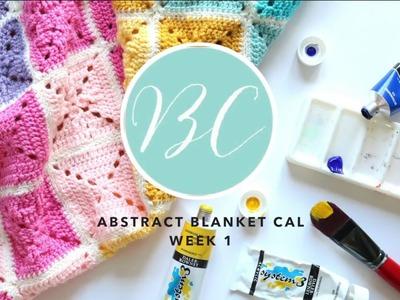 LEFT HANDED CROCHET: Abstract Blanket Week 1   Bella Coco